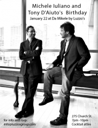 Michele Iuliano and Tony D'Aiuto of Luzzo's Group Birthday Bash