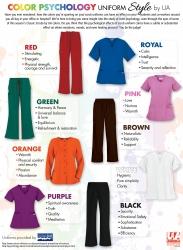 Color Psychology Uniform Style Guide by Uniform Advantage