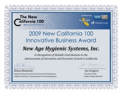 New Age Hygienic Systems, Inc. Offers Solution to California's Mega Drought and Water Shortage Crises