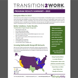 ReEmployAbility Reports Growth in Return-to-Work Program, Savings Through 2013