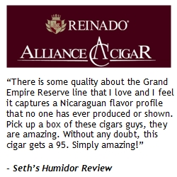 Expanding Empire: Alliance Cigar to Distribute Highly Rated REINADO�