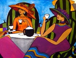 African American Artist Unveils Painting at Mother's Day Tea; Silent Auction to Benefit Breast Cancer Research