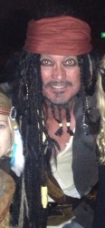 Argentine Tango Dancer Appearing as Jack Sparrow at Argentine Tango Milonga in Hartford CT: Wins Prize for Best Costume