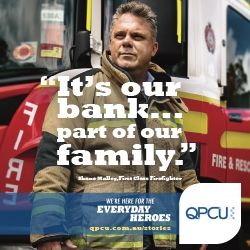 We're for the Heroes. Queensland Police Credit Union (QPCU) Launched Their New Brand Campaign Today, Created by Blue Pencil Advertising.
