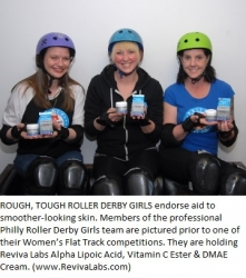 Smooth Looking Skin for Roller Derby Girl Pros