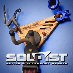 Innovative New Product for Guitar Players. SOLOIST: All-In-One Guitar & Accessory Hanger by Wall-Axe
