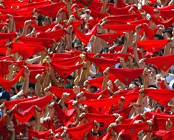 Experience the Fiesta de San Ferm�n and the Running of the Bulls in Pamplona in 2014 with Iberian Traveler's Sanferm�n Tours