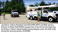 Odyne Systems, LLC Showcased Plug-in Hybrid Systems on Early DOE Award Trucks at 2014 EUFMC