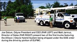 Odyne Systems, LLC Showcased Plug-in Hybrid Systems on Early DOE Award Trucks at 2014 EUFMC