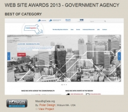 MassBigData.org Wins Best of Category in Government Websites in 2013 Horizon Interactive Awards
