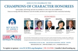 Champions of Character Dinner Held June 18, 2014, Washington, DC