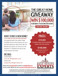 New York Real Estate Experts Announce the Great Home Giveaway