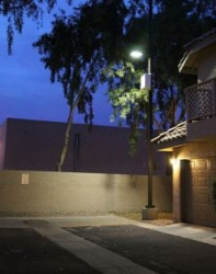 Solar Powered LEDtronics LED Area Lights Offer Security to Mesa Residential Community