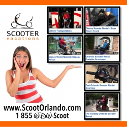 Scooter Vacations Announces Their Line-Up of Informational Videos for Selecting the Best Orlando Scooter Rental for Vacationers Touring Orlando Theme Parks