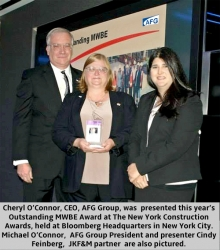 AFG Group Wins New York Construction Award for Outstanding MWBE