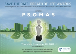 Breathe California of Los Angeles County Announces 2014 Breath of Life Awards Gala + Psomas as Breath of Life Award Honoree