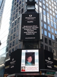 Strathmore's Who's Who Honored Judy Sain Kirkpatrick with Special Times Square Appearance
