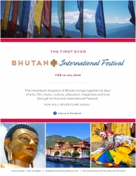 First Ever Bhutan International Festival in the Himalayas – Feb 14-23, 2015 Brings Together 10 Days of Arts, Music, Film, a Full and Half Marathon, TED Talks and More