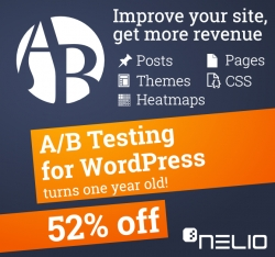 First Year Anniversary of Nelio A/B Testing for WordPress with an Amazing 52% Offer (Two Weeks Only)