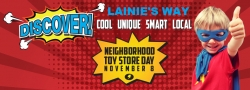 Lainie's Way Celebrates Fifth Annual Neighborhood Toy Store Day on Saturday, November 8, 2014