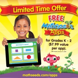 Free Mathseeds Apps for Students in Grades K-2