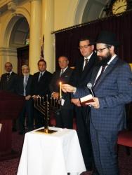 Chabad of Melbourne CBD Lights Menorah at Parliament of Victoria