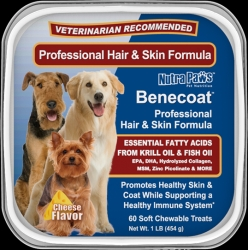 Benecoat™ is Better. The Favorite Fish Oil for Dogs is Now in a Cheese Flavored Soft Chew.