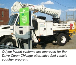 Odyne Systems, LLC Approved for Drive Clean Chicago Alternative Fuel Vehicle Voucher Program