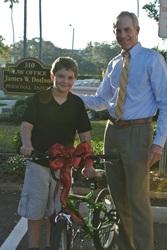 Bicycle Accident Attorney Jim Dodson Surprises Boy Who Had His Bike Stolen