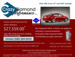 Crazy Diamond Performance Inc., to Offer a Dedicated CNG Vehicle and Refueling Unit as a Package