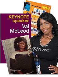 Author, Speaker and 400+ Weight Loss Champion Val McLeod to be Keynote Speaker at eXfuze Transformations 2015 in Miami FL, January 24