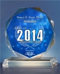 Nancy E. Scott, Ph.D. Receives 2014 Best of Manhattan Psychologist Award