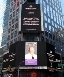 America's Registry of Outstanding Professionals Member, Juan Francisco Gutierrez-Mazorra Has Recently Been Honored with a Times Square, New York Appearance
