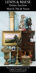 Antiques & Art Estate Auction - Offers Live Internet Bidding of 450+ Unique Lots