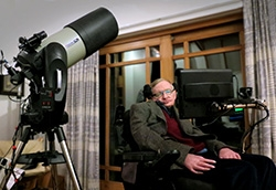 Stephen Hawking Captures the Universe with Customized Celestron Telescope