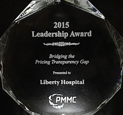 "Liberty Hospital Receives ""Bridging the Pricing Transparency Gap"" Leadership Award 