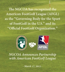 NGCOA Designates AFGL as Official Footgolf Organization