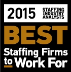 2015 Best Staffing Firm to Work for and to Temp For