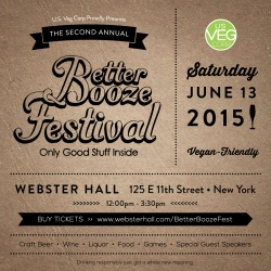 The Only NYC Veg-Friendly Alcohol Festival Comes to Webster Hall