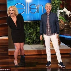 Britney Spears Wore SEN Couture to Ellen DeGeneres Show on NBC