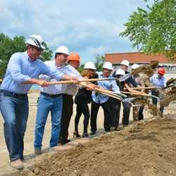 Builders Break Ground for Groundbreaking Apartment Complex, The Falls, Near Hudson, NY