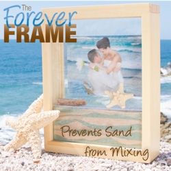 The Forever Frame Provides the First Unity Ceremony Sand Frame That Travels