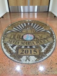 New Santa Maria Police Station Saved by RetroPlate Concrete Polishing System®