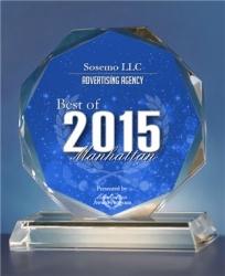 Sosemo LLC Wins Best of Manhattan Award in the Advertising Category