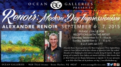 Alexandre Renoir Supports Local Charity with Painting Donation in Conjunction with Labor Day Weekend Exhibition