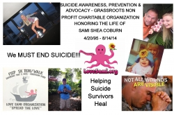 World Suicide Prevention Day September 10th, 2015