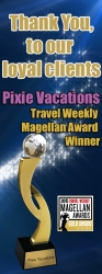 Pixie Vacations® is Honored as a 2015 Travel Weekly Gold Magellan Award Winner