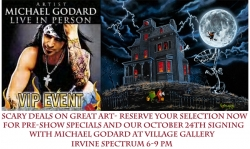 Meet the Rock Star of the Art World Michael Godard at Village Gallery Irvine Spectrum