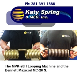 Katy Spring's Growing Fleet of Spring Manufacturing Equipment