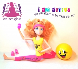 The World's First Yoga Doll™ from AZIAM Girlz, Asana, Launches Today with Kickstarter Campaign - www.kickstarter.com/projects/aziamgirlz/aziam-girlz-yoga-dolls